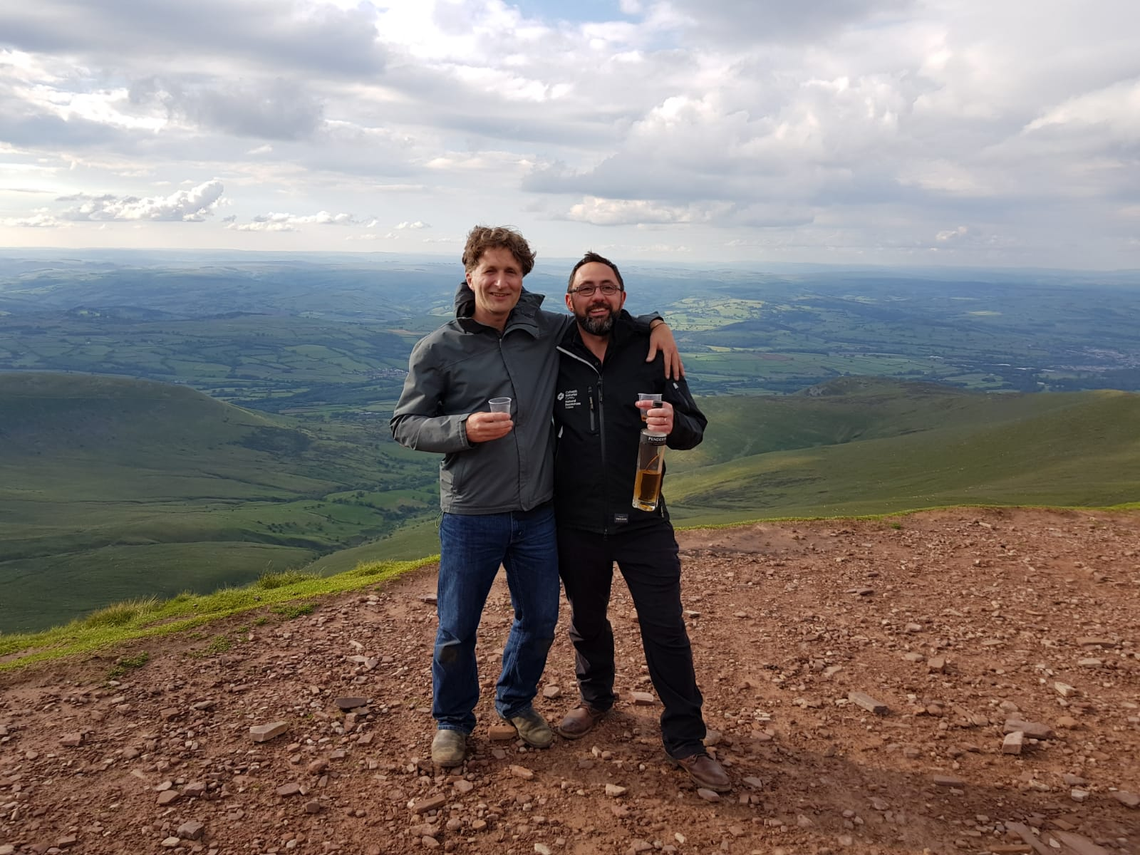 Paul Griffith And I Testing The Theory That Whisky Has A Stronger Affect At Altitude And With Friends